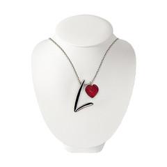 FitLine Halskette Silber Damen rot