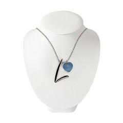 FitLine Halskette Silber Damen hellblau