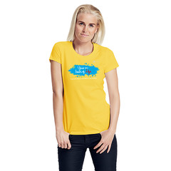 Size XS Woman Charity Fairtrade T-Shirt yellow