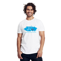 Size S Man Charity Fairtrade T-Shirt white