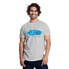 Size S Man Charity Fairtrade T-Shirt grey