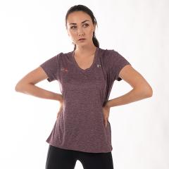 FitLine Under Armour Damen Tech Twist T-Shirt pflaume