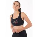 FitLine Under Armour Damen Mid Sports Bra schwarz