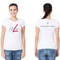 FitLine White Womens T-Shirt